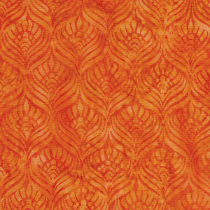 Feathers- Tangerine- Floralicious By ISLAND BATIK - 112030240
