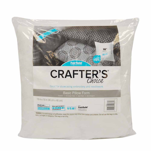 "Fairfield Crafter's Choice 18""x 18"" Basic pillow form"