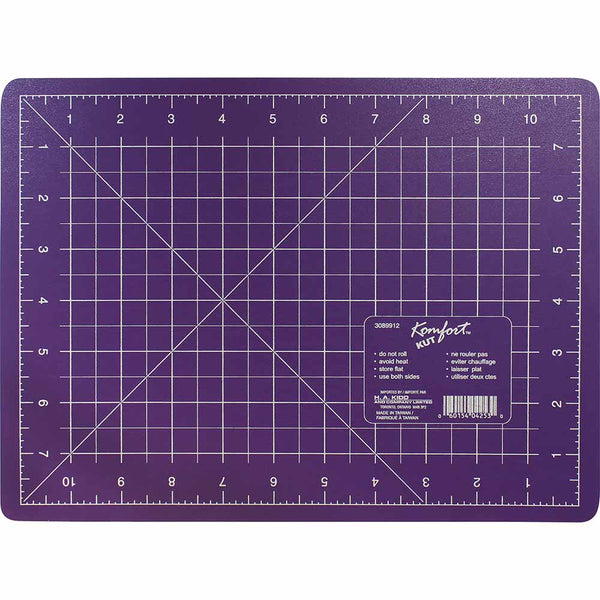 KOMFORT KUT Purple Cutting Mat - 8″ x 11″ (20 x 28cm)