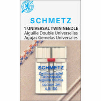 SCHMETZ #1771 Twin Needle Carded - 100/16 - 4.0mm - 1 count