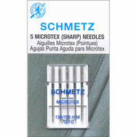 SCHMETZ #1729 Microtex Needles Carded - 70/10 - 5 count