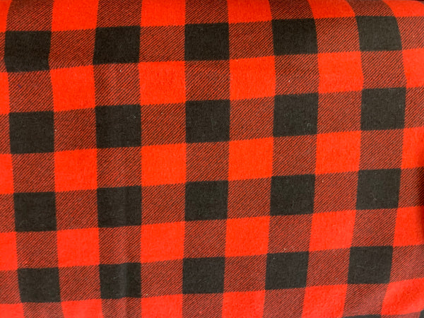 Red and black Check Flannel