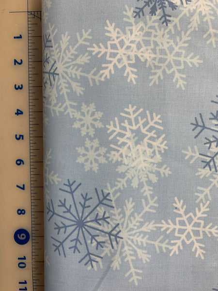 "108"" quilt back - snowflake blue"