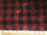 Flannel plaid Red #8