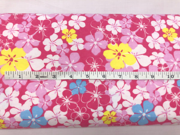 Flannel- Tropical Flowers on Pink - KPF 78