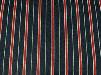 Flannel 2579- navy with red and white stripes