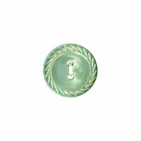 14mm 2 hole button green 651027B