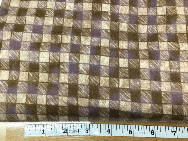 Flannel plaid brown #13