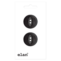 ELAN 2 Hole Button - 20mm (3⁄4″) - 2 count-black