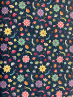 Assorted Flowers- navy #20501