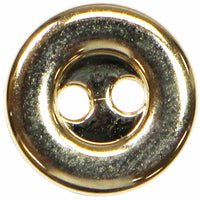ELAN 2 Hole Button - 9mm (3⁄8″) - 5 count- gold