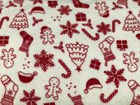 Flannel 2582- White with Christmas items