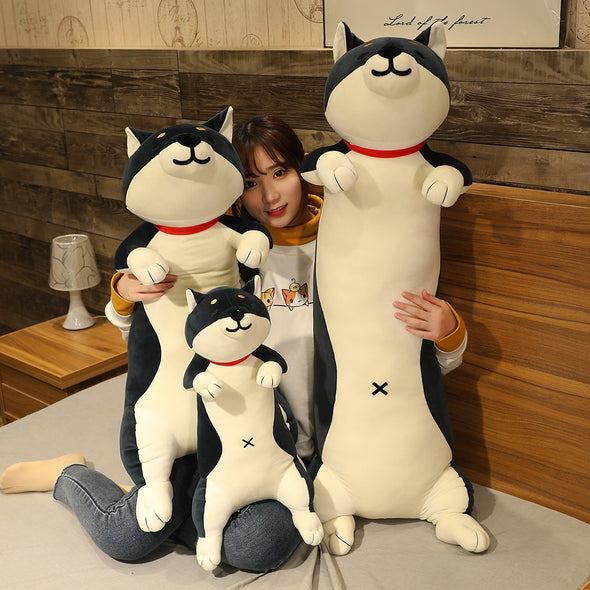 Elongated Shiba/Cat Plush (3 COLORS, 3 SIZES)
