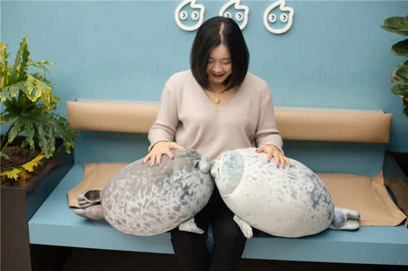 "Yuki-Chan Plushie ""Japan's Roundest Seal"" - XL (Extra Chonky) - Subtle Asian Treats"