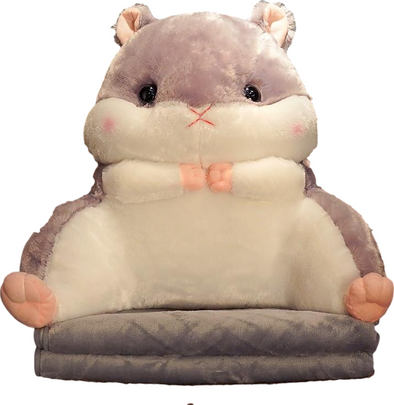 Hammy Plushie/Back Cushion (with Blanket + Hand Warmer)