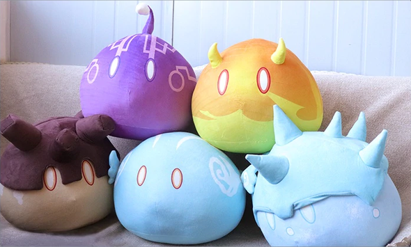 Genshin Slime Plushies (7 Variants, 3 Sizes)