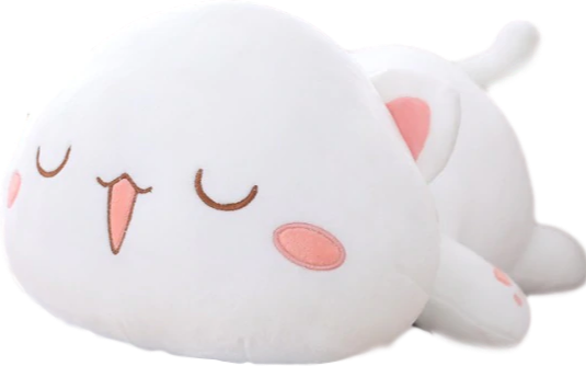 Kawaii Lying Cat Plush (4 VARIANTS, 3 SIZES) - Subtle Asian Treats