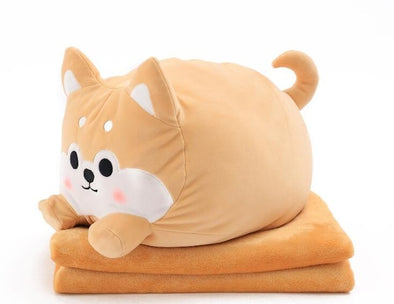 Roly the Shiba Pillow Blanket (2 COLORS) - Subtle Asian Treats