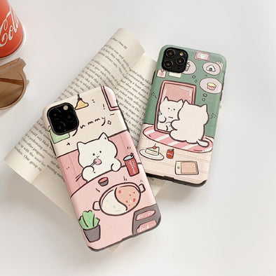 Hungry Cat iPhone Case - Subtle Asian Treats