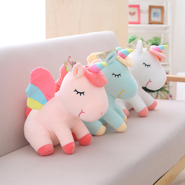 Rainbow Unicorn Plush (4 COLORS, 3 SIZES) - Subtle Asian Treats