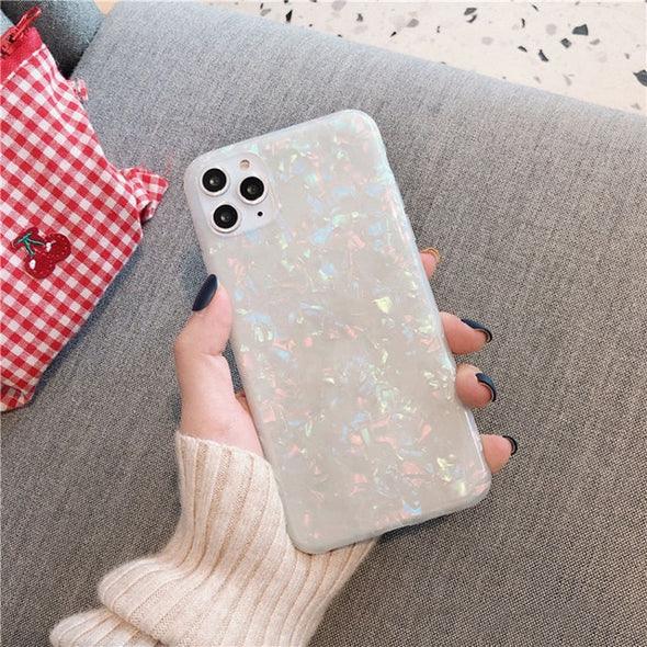 Marble Glitter iPhone Case