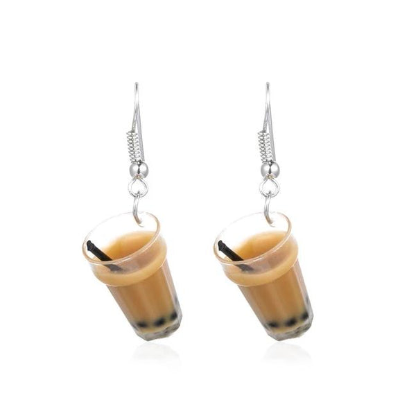 Glass of Milk Tea Earrings - Subtle Asian Treats