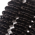 Indian Deep Wave 3 Bundles with 13*4 Ear to Ear Lace Frontal Closure Deals-Mswisdom Hair