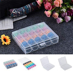 Load image into Gallery viewer, AINIA 25Pcs Colorful Plastic Empty Bobbins Sewing Machine Spools Case Storage Box