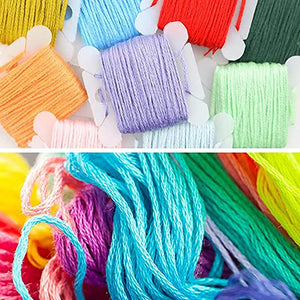 AINIA Embroidery Floss 50 Skeins Friendship Bracelets Floss Rainbow Color Embroidery Thread Cross Stitch Floss