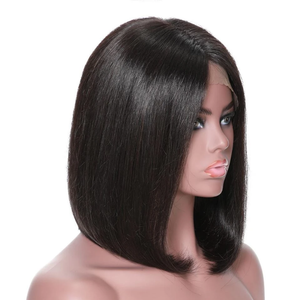 Mswisdom Straight Short Bob Wig 13*4 Lace Front Human Hair Wigs For Black Women 150% density 8-14 inch