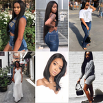 Load image into Gallery viewer, Peruvian Straight Hair 3 Bundles with 4*4 Lace Closure