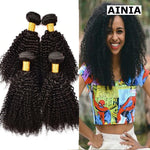 4 Bundles Brazilian Virgin Kinky Curly Hair Weave Human Hair Bundle Deals-AINIA Hair