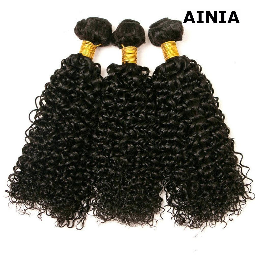 AINIA Brazilian Kinky Curly Hair 3 Bundles on Deals