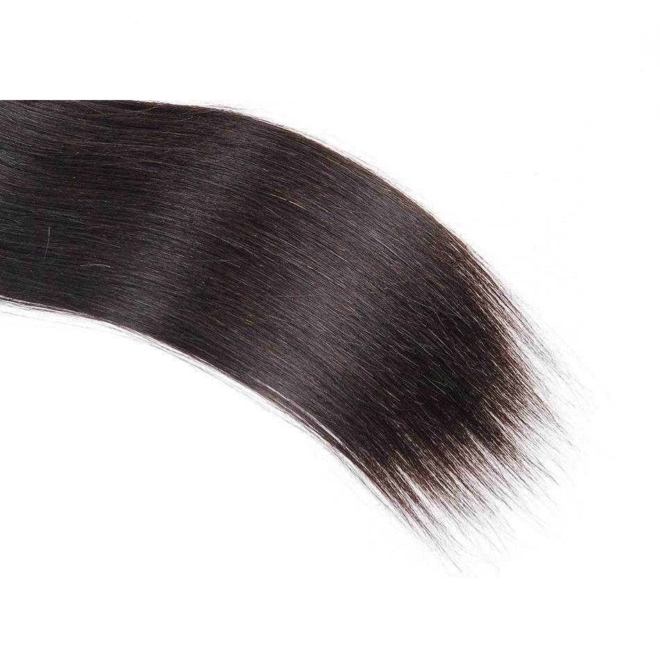 Mswisdom Hair Brazilian Hair Straight Human Virgin Hair Weave 3 Bundles