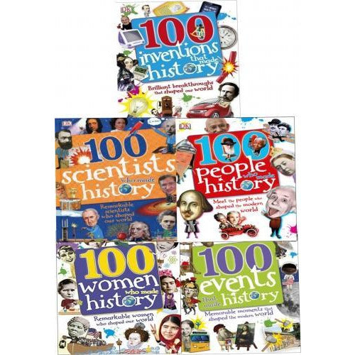 100 History Series 5 Bookscollectionset 100 People Who Made History 100 Events 100 Inventions 100 .. - books 4 people