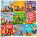 Peter Rabbit Favourite Stories 9 Books Collection Boxset Friends Forever Party Time Football Fever..