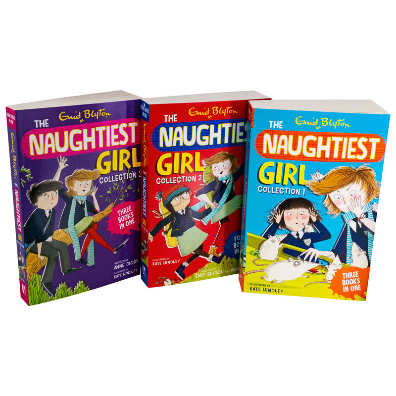 Enid Blyton The Naughtiest Girl 3 Book Set Full Collection (10 in 3 Books) - books 4 people