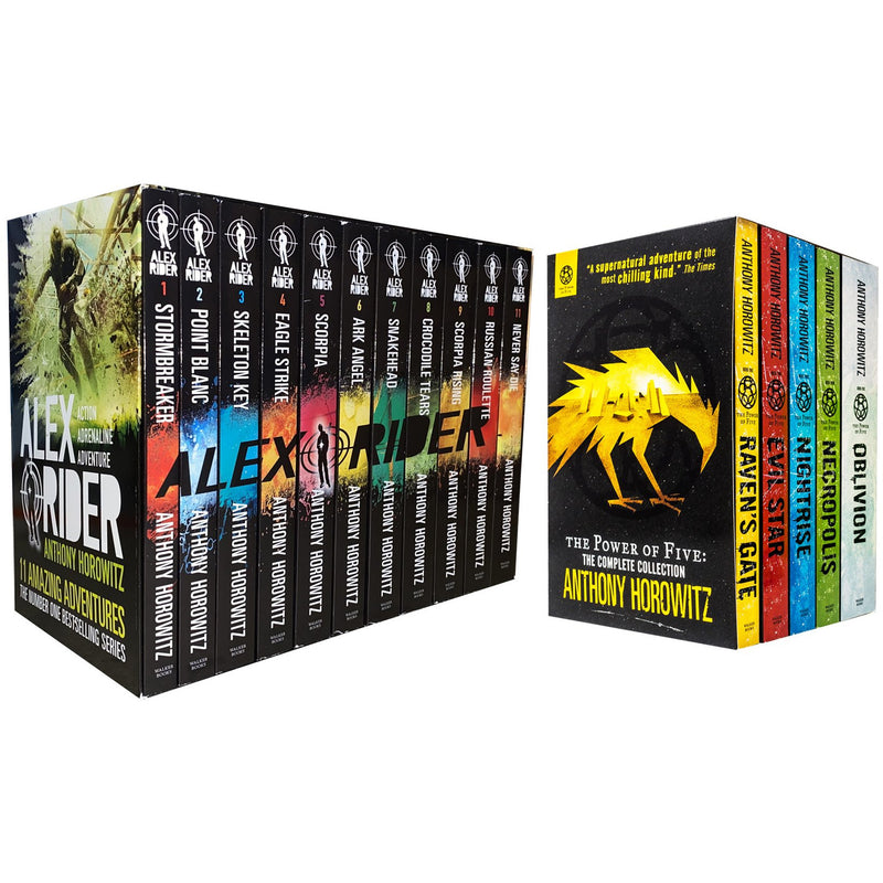 Anthony Horowitz 16 Books Collection Power Of Five And Alex Rider Series Set Pack Anthony Horowitz..