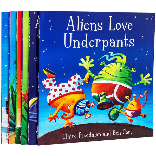 Aliens Love Underpants Collection 6 Children Picture Books Set Pirates Dinosaurs Monsters Love Underpants