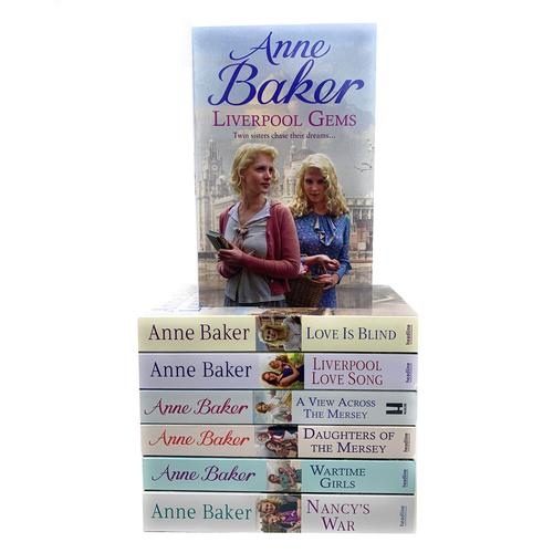 Anne Baker Collection 7 Books Set Daughters of the Mersey, Liverpool Love Song, Liverpool Gems, Nancys War, Love is Blind, Wartime Girls and More