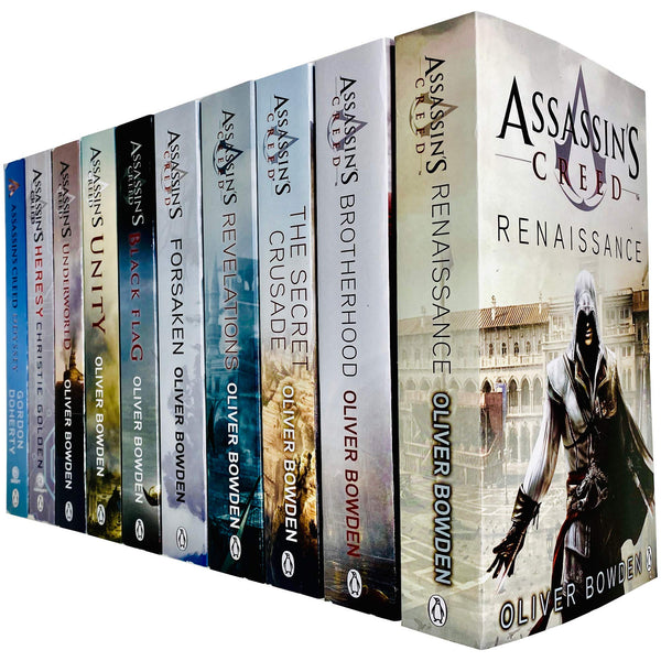 Assassins Creed 10 Books Collection Set By Oliver Bowden Heresy, Odyssey, Underworld