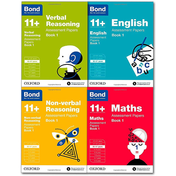 Bond 11+ English 4 Books Set Ages 10-11+ Inc Maths, English, Verbal and Non-verbal (Book 1)