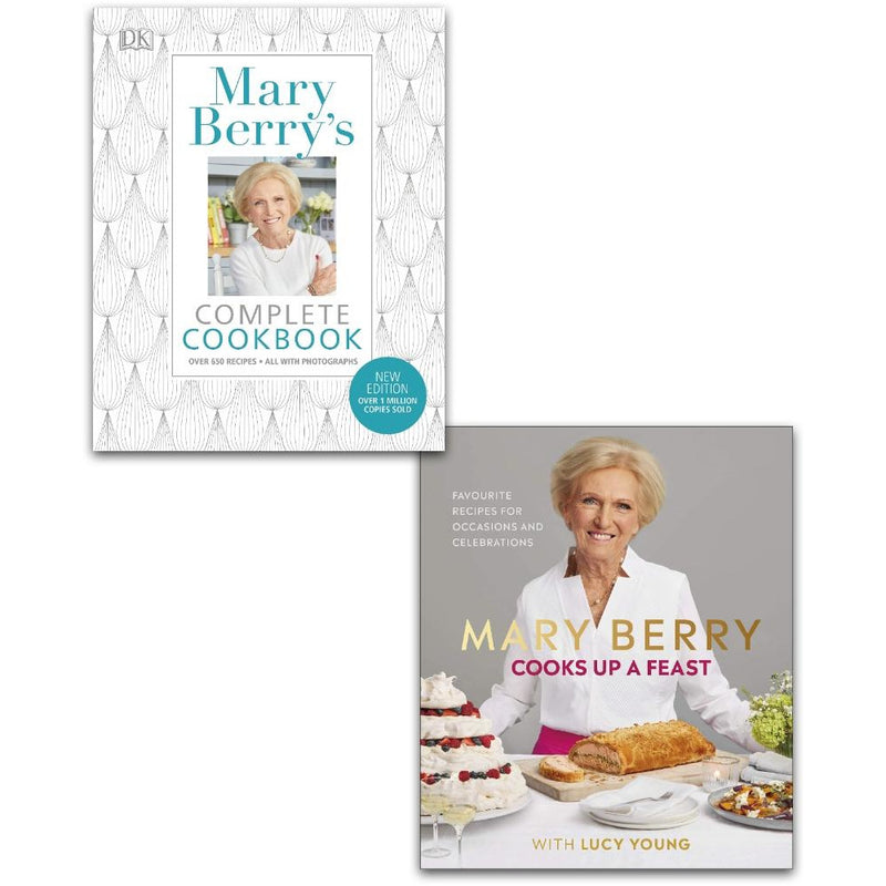 Mary Berry Cooks Up A Feast and Complete Cookbook Collection 2 Books Set