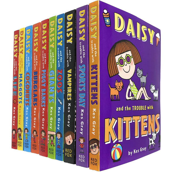 Daisy And The Trouble Collection 10 Books Set By Kes Gray Daisy And The Trouble With Kittens Sport..