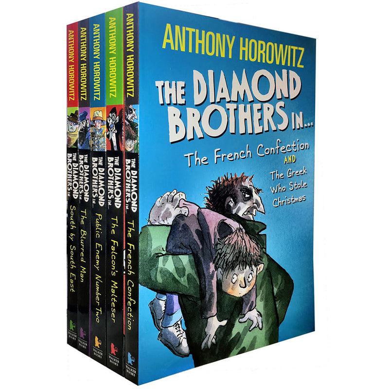 Diamond Brothers Detective Agency Collection By Anthony Horowitz 5 Books Set - books 4 people