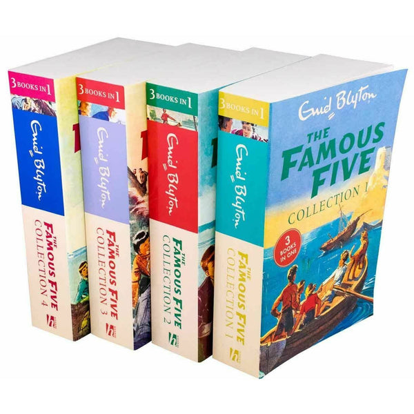 Enid Blyton The Famous Five 4 Book 12 Story Collection (3 Books in 1) - books 4 people
