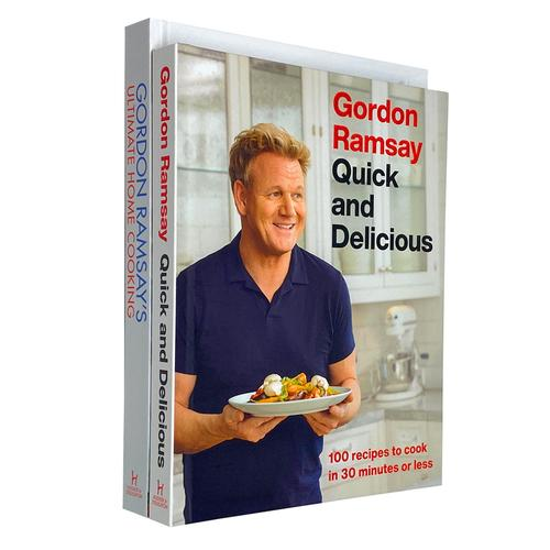 Gordon Ramsay Collection 2 Books Set - Ultimate Home Cooking, Quick and Delicious
