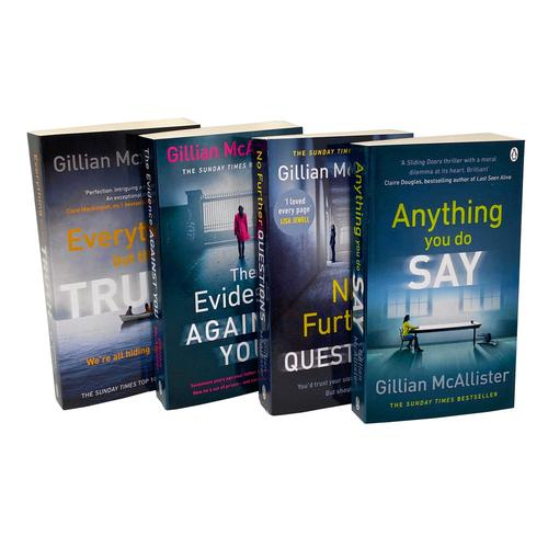 Gillian McAllister Collection 4 Books Set The Evidence Against You, Everything but the Truth