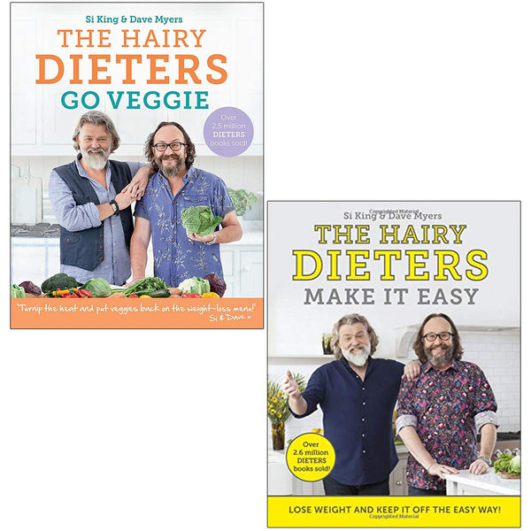 Hairy Bikers 2 Books Collection Set (The Hairy Dieters Go Veggie, The Hairy Dieters Make It Easy)