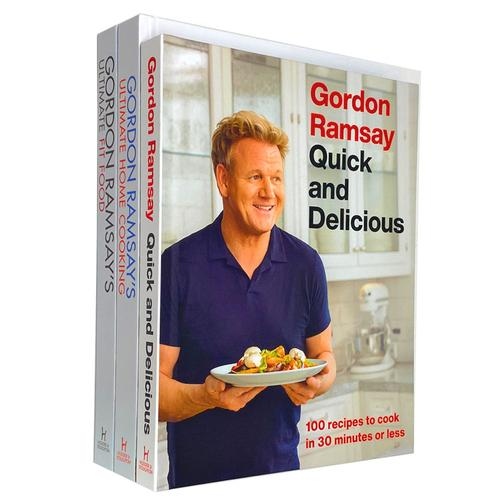 Gordon Ramsay Ultimate Fit Food, Ultimate Home Cooking, Quick & Delicious 3 Books Collection Set